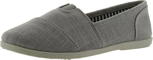 Soda Women Object Round Toe Flats Shoes,7.5 B(M) US,Gray Linen