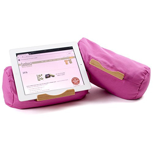 Lap Log Classic - iPad Stand / Touchscreen Tablet Holder - Good for Reading in Bed - Top Rated on Amazon - Made in USA - Hisbicus Pink