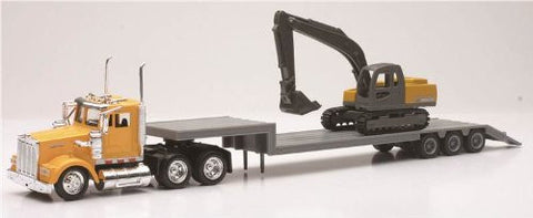1/43 Kenworth W900 Construction Truck with Backhoe