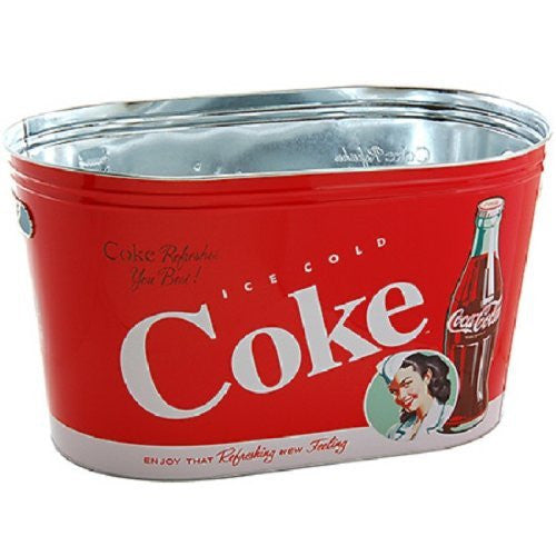 Coke Galvanized Lg. Oval Party Tub