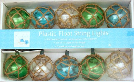 Plastic Float 10-Count String Lights