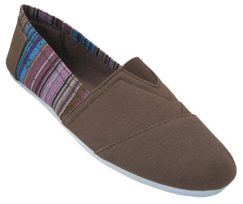 Wholesale Women's Canvas Shoes - Brown, Size 7
