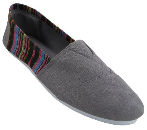 Wholesale Women's Canvas Shoes - Grey, Size 9