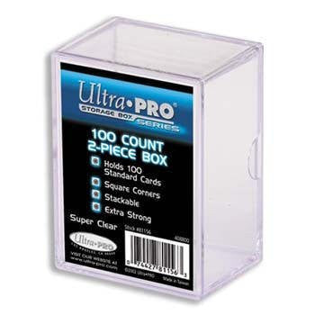 ULTRA PRO **(5x) 2-Piece Box** Holds 100 Cards Each PLASTIC STORAGE BOX Sports Cards & Gaming Decks