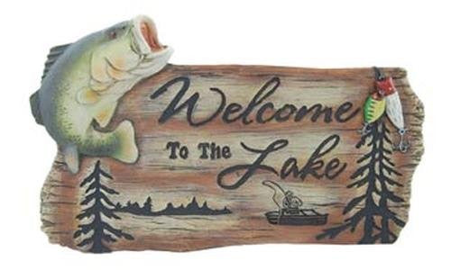 Welcome To Lake Fish Sign