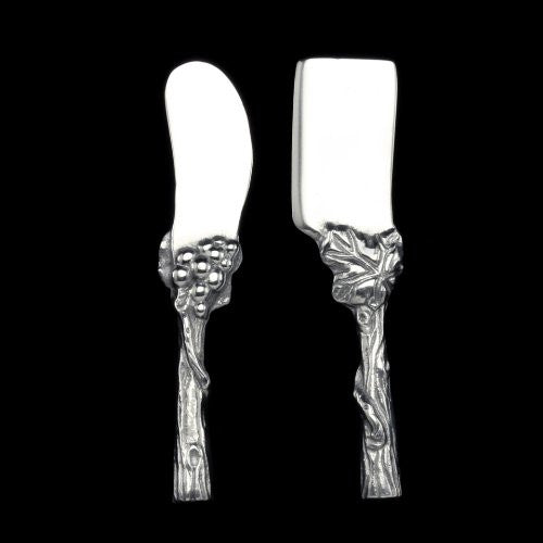 GRAPE 2-PC CHEESE KNIFE SET