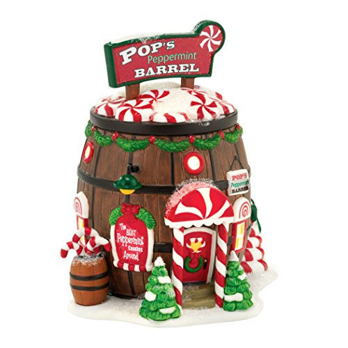 Department 56 Pop's Peppermint Barrel