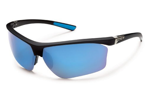 Roadmap Matte Black with Blue Mirror Polarized Polycarbonate Lens