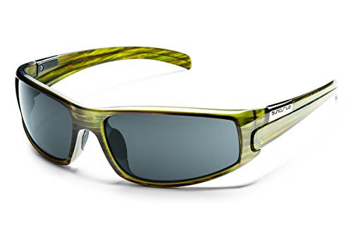 Swagger Green Stripe with Gray Polarized Polycarbonate Lens