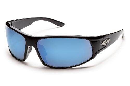 Warrant Black with Blue Mirror Polarized Polycarbonate Lens