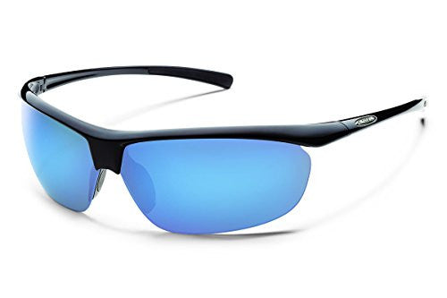 Zephyr Black with Blue Mirror Polarized Polycarbonate Lens