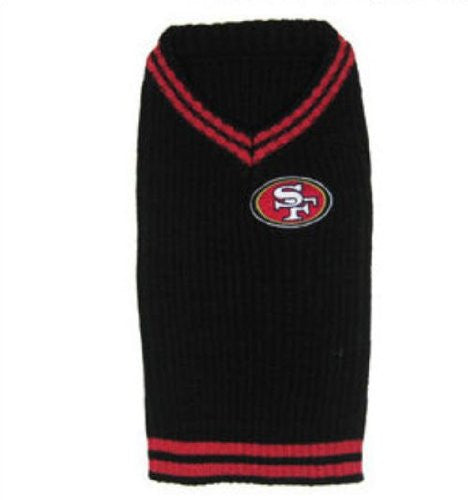 San Francisco 49ers Dog Sweater, black, small