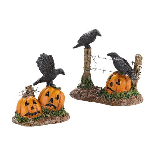 Department 56 Halloween Ravens, Set of 2