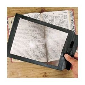 "10.5"" x 8"" Full page magnifier/2x magnification and Credit Card Size Magnifier"