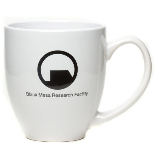 Half Life 2 Black Mesa Research Facility Coffee Mug- Black/White