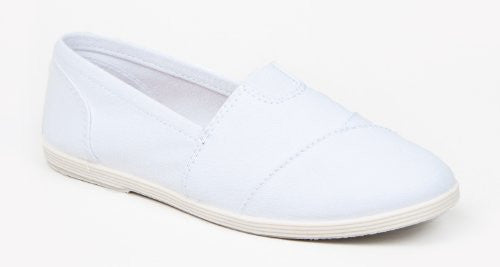 Soda Women Object Flats-Shoes,11 B(M) US,White Canvas