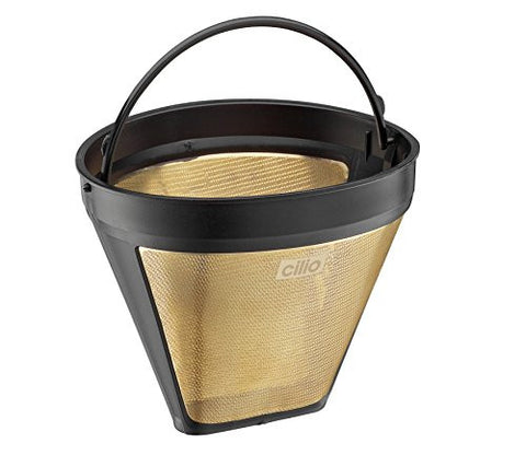 #4 Cone Coffee Filter, 23 karat gold plated