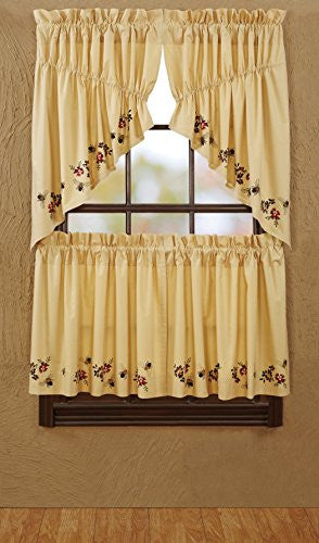 Cambrie Lane Tier Bees Lined Set of 2 L24xW36""