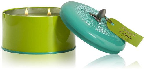 Essential Color Block Tin Candle, 16.2 oz - Pineapple Cilantro