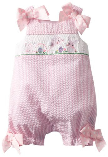 Bunny Smocked Bubble,Size: 0-6 months