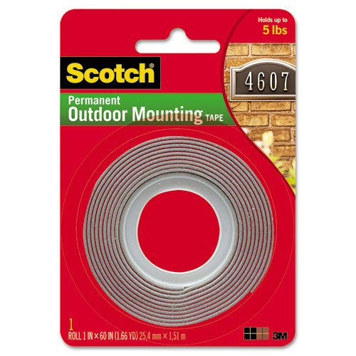 Outdoor Mounting Tape 1 in x 60 in