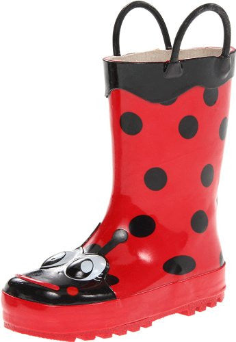 Western Chief Ladybug Red Boots Size: 10 Child