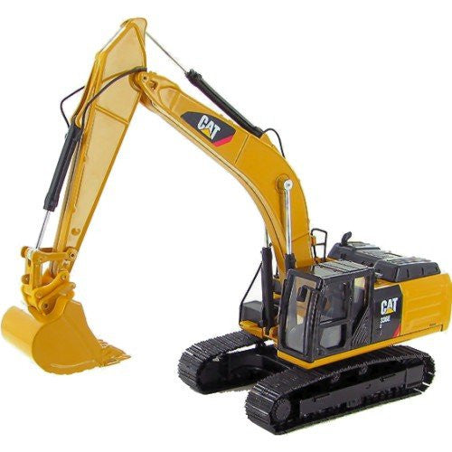 Norscot - Cat 336E H Hybrid Hydraulic Excavator (1/50 scale diecast model car, Yellow)