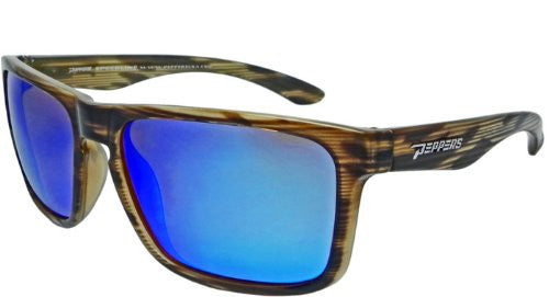 Sunset Blvd Double Caramel, Brown TAC-Tical Polarized w. Ice Blue Mirror