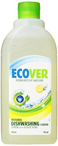 ECOVER Dish Liquid, Natural Lemon & Aloe - 16 oz