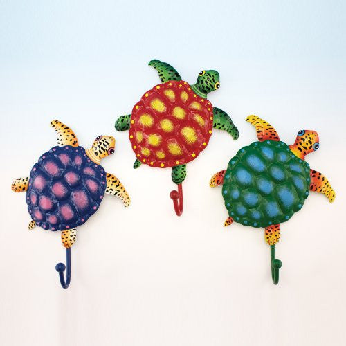 Metal Turtle Wall Hooks, 3 Asst