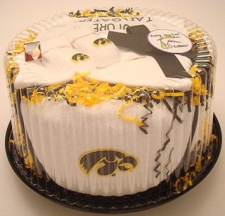 Iowa Hawkeyes Baby Fan Cake Clothing Gift Set (NB - 3 Months, Color Trim)