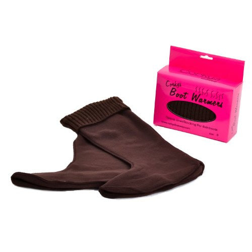 Boot Warmers (Fleeced) - Chocolate (Medium)