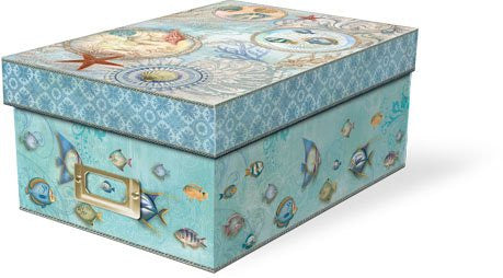 Seascape Photo Storage Boxes (Includes 10 divider cards and metal label holder)