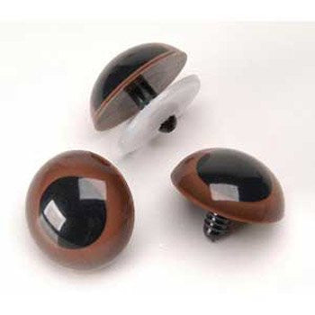 Animal Eyes with Plastic Washers - Brown - 20mm - 50 pieces