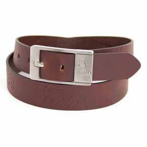 Mississippi Rebels NCAA Brandish Leather Belt - Size 36
