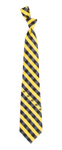 Iowa Hawkeyes Tie Woven Poly Check