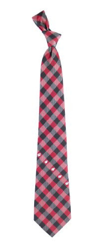 Wisconsin Badgers Tie Woven Poly Check