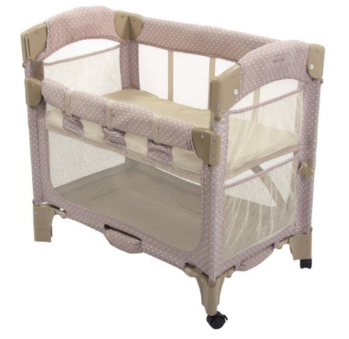 Arm's Reach Concepts Mini Arc Co-Sleeper Bedside Bassinet, Toffee Dot