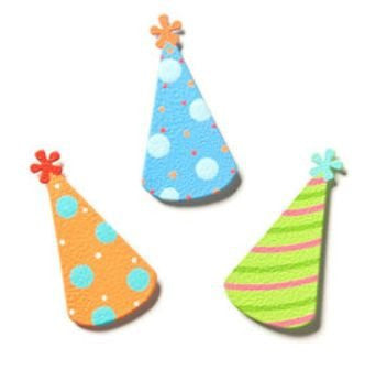 Embellish Your Story Party Hat Magnet Set
