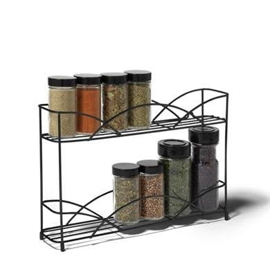 Countertop 2-Tier Spice Rack - Black