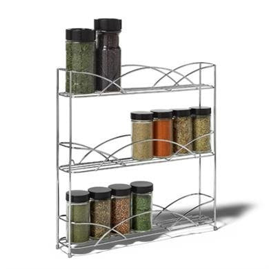 Countertop 3-Tier Spice Rack - Chrome