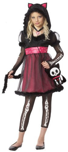 Skelanimals Kit, The Cat/Tween - Black/Hot Pink (S 6-8)