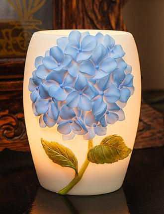 Blue Hydrangea Night Lamp