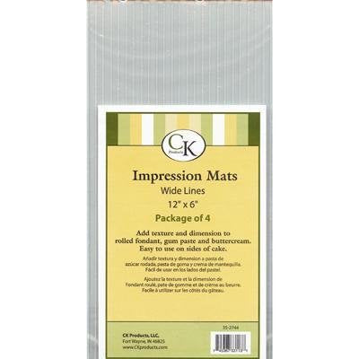 "Wide Lines Impression Mat, 12 X 6"", Pack of 4"
