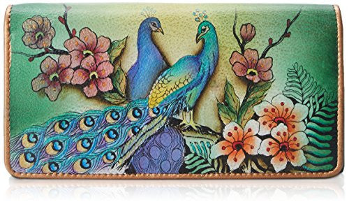 Passionate Peacocks Accordian Flap Wallet