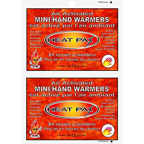 Techniche Heat Pax Hand Warmers Display - 40 Pairs