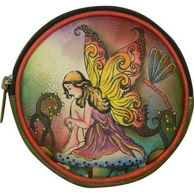Enchanted Forest Fairy Round Key Pouch/ Coin Purse