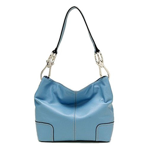 Tosca Classic Medium Shoulder Handbag (Light Blue)