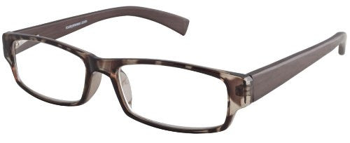 """Striated Bamboo"" Men's Reading Glasses with Matching Case By ICU (1.75, Dark Brown)"