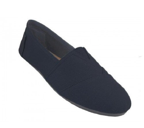 Wholesale Men's Canvas Slip On - All Black, Size 9